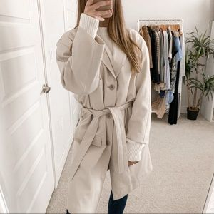 Lemaire Belted Trench Coat Ivory